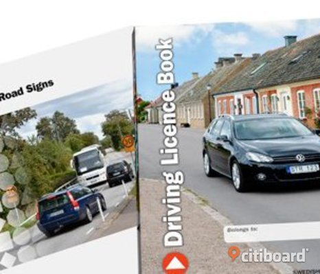 Driving License Book+swedish road sign English