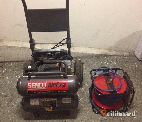 Senco air Pro Kompressor PC2225EU 230V, 2.5HP, 16L, 268L/min + SLANGVINDA !!!