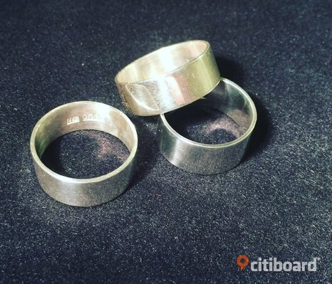 Bred silverring