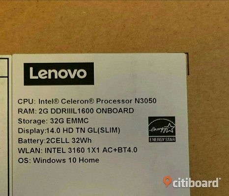 Laptop - LENOVO Ideapad 100S-14IBR.