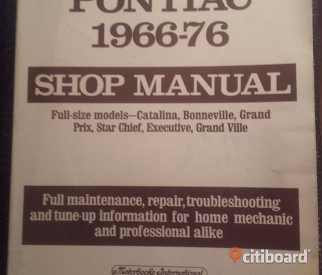 Shop manual pontiac fullsize 1966-1976