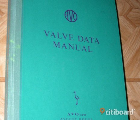 AVO Valve Data Manual, 14e edition 1960