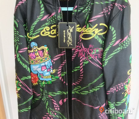 NY Ed Hardy Christian Audigier Leather Jacket