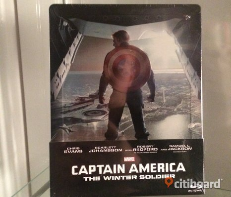 Captain America The Winter Soldier Blu Ray Steelbook oanvänd