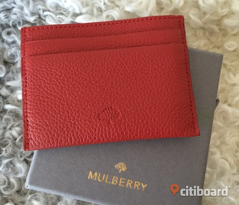 Mulberry Credit Card Slip - Red