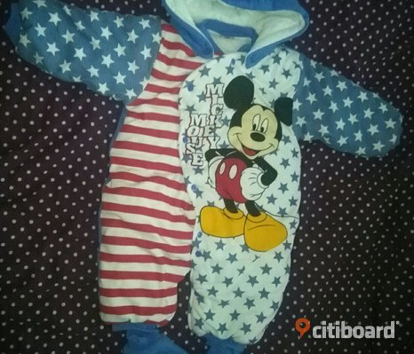 Mickey Mouse overall i tjock bomull