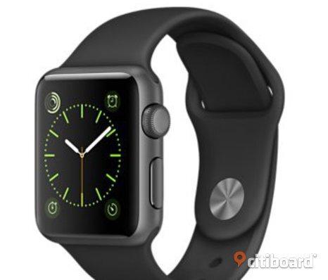 Apple Watch 42mm Space Grey med tillbehör