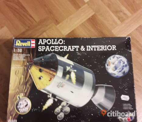 Revell apollo spacecraft & interior oöppnad