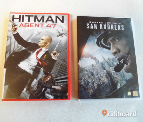 Hitman Agent 47 + San Andreas. 2 st Action Dvd.