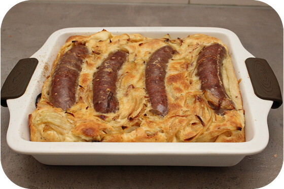 Worstjes in Deeg (Toad in a Hole)