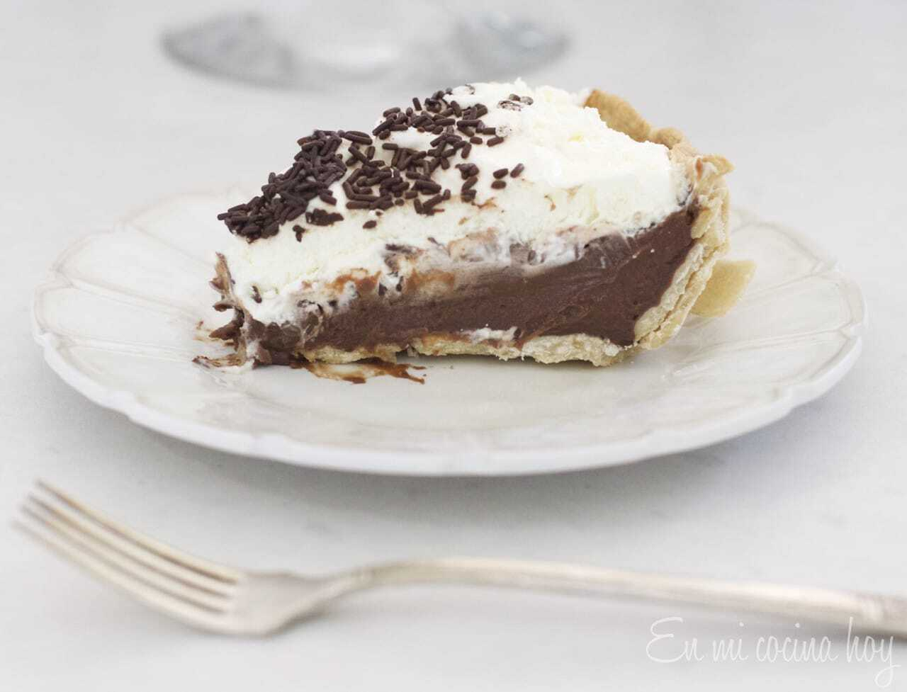 Tartaleta o pie de chocolate