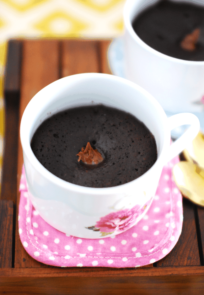 Easy Eggless Chocolate Mug Cake