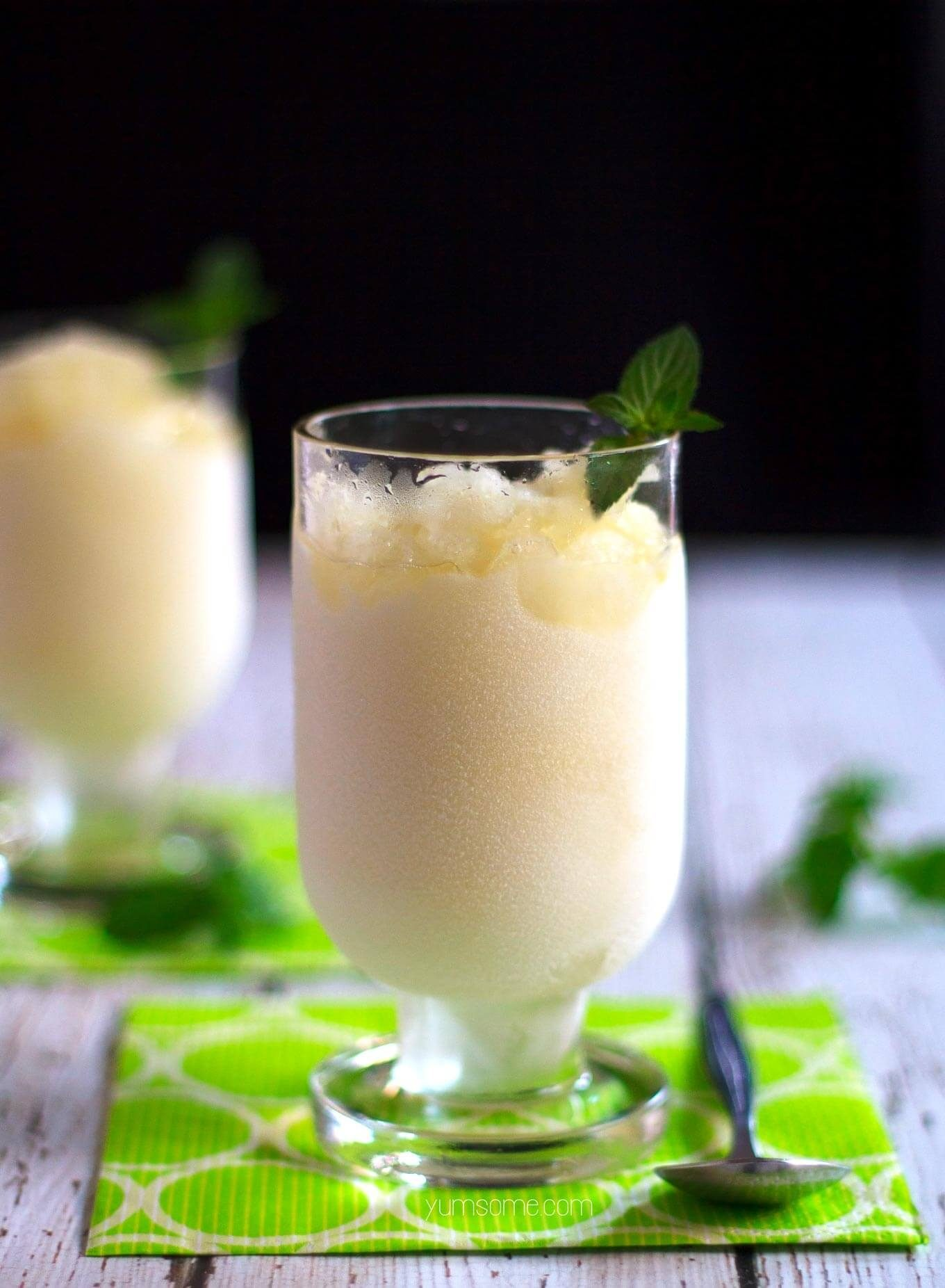 Easy No-Churn Mojito Sorbet