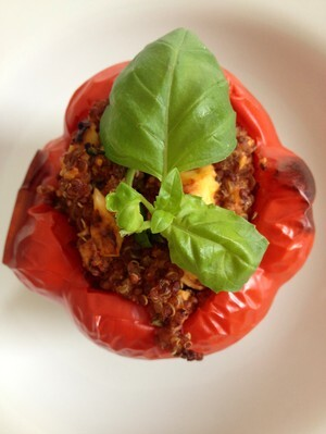 Fylld paprika / stuffed red bell pepper