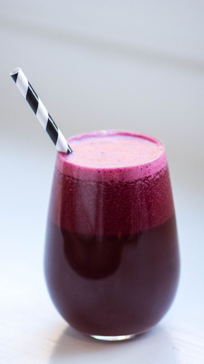 Homemade beetroot juice