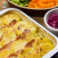 Syn Free Bacon, Onion and Potato Bake | Slimming World