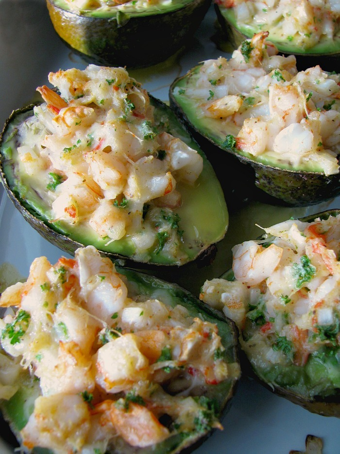 Baked Seafood Stuffed Avocados #BrunchWeek