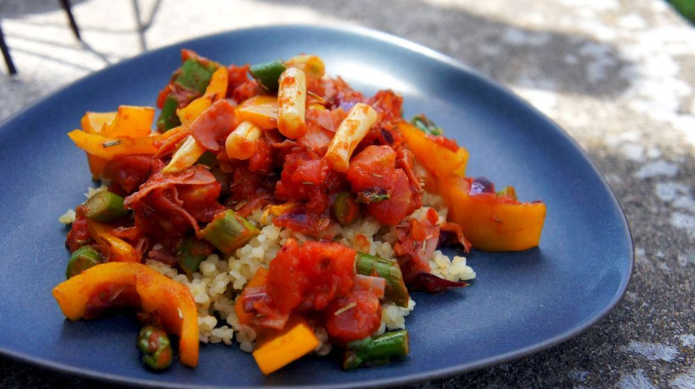 Bulgur med ratatouille