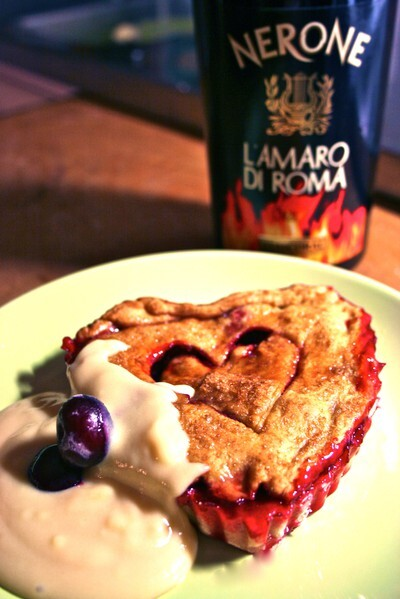 Sweet Cherry Pie with Drunken Creme Anglaise