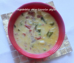 Kerala vegetable stew or ishtu