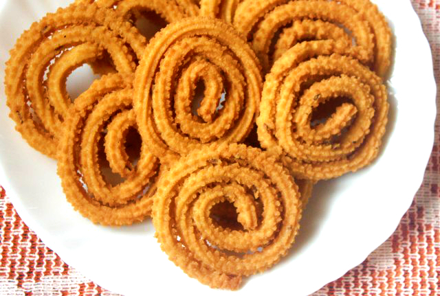 Roasted gram dal/pottukadalai murukku – Instant and easy murukku recipe