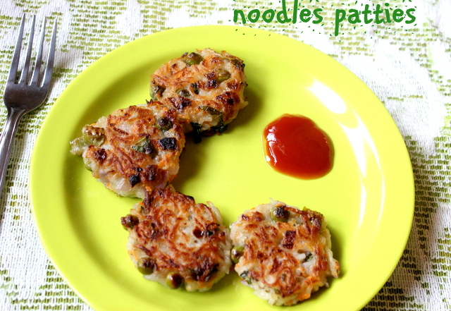 Noodles patties recipe – kids snacks recipe- noodles recipes