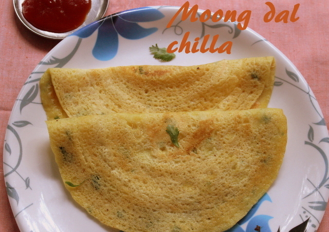 Moong dal chilla recipe – how to make moong dal chilla recipe – snacks | breakfast recipes