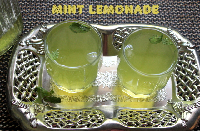 Mint lemonade recipe – how to make fresh mint lemonade recipe – summer drinks