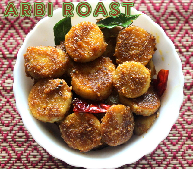 Arbi roast recipe – How to make spicy arbi roast or arbi fry recipe – colocasia roots/taro roots recipes