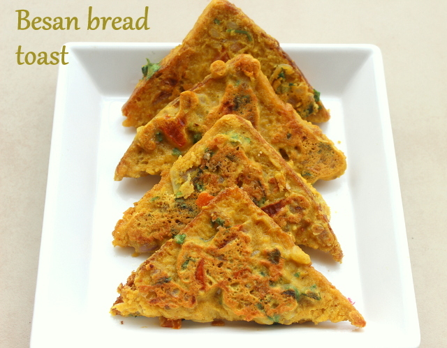 Bread besan toast recipe – How to make bread besan toast recipe – Easy breakfast recipes