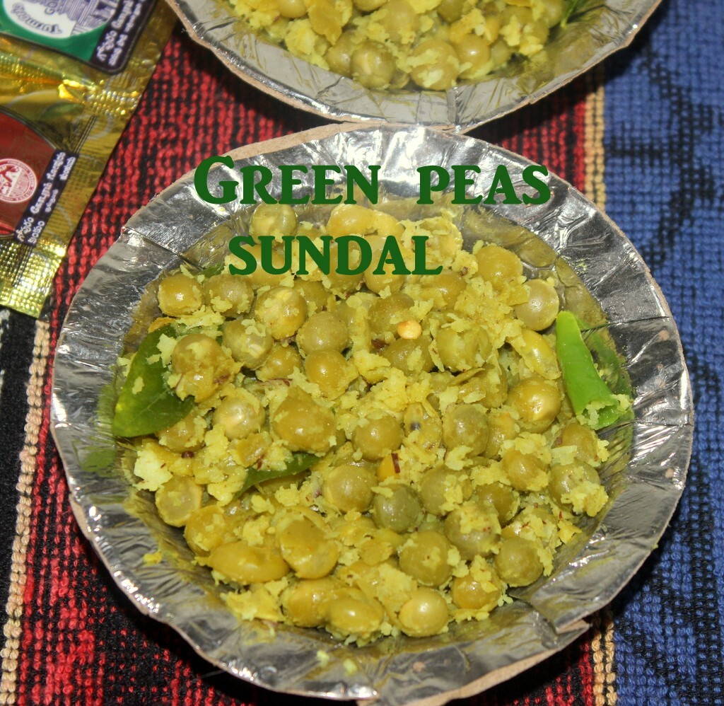 Green peas sundal (pattani sundal) recipe – How to make green peas sundal recipe – Navratri recipes