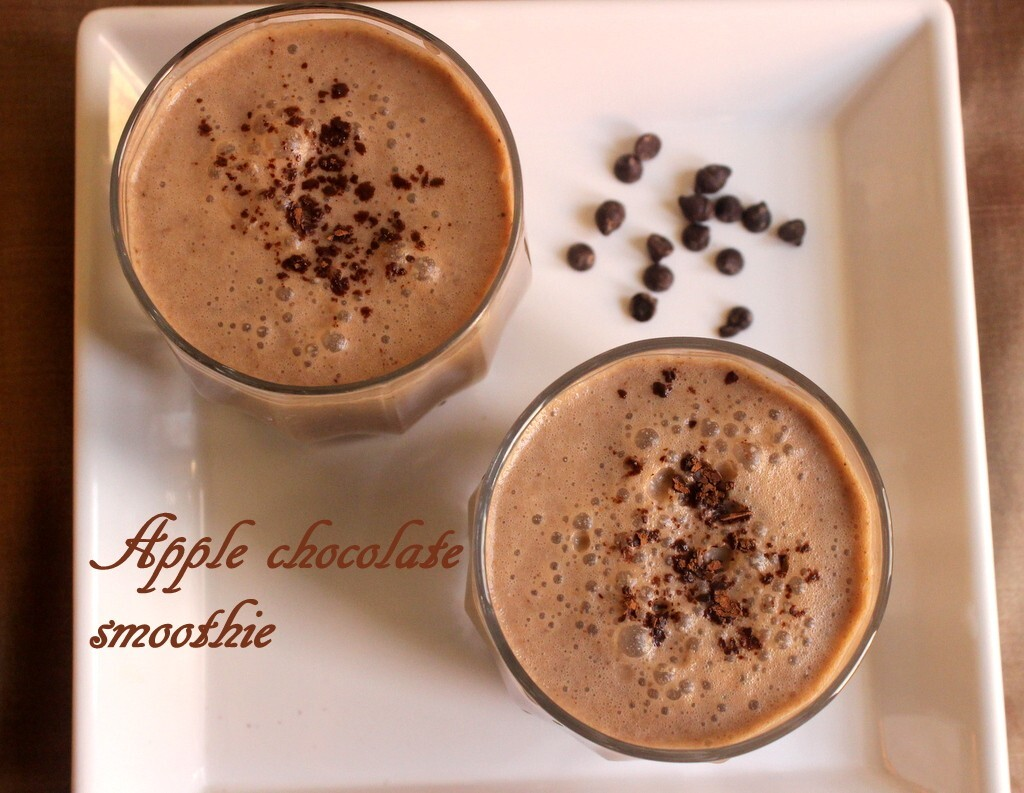 Apple chocolate smoothie recipe – How to make apple chocolate smoothie recipe