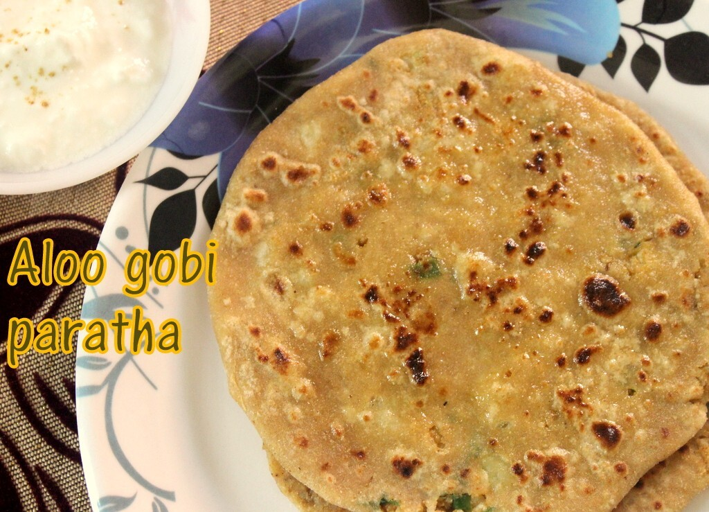 Aloo gobi paratha recipe – How to make aloo gobi (potato cauliflower) paratha recipe