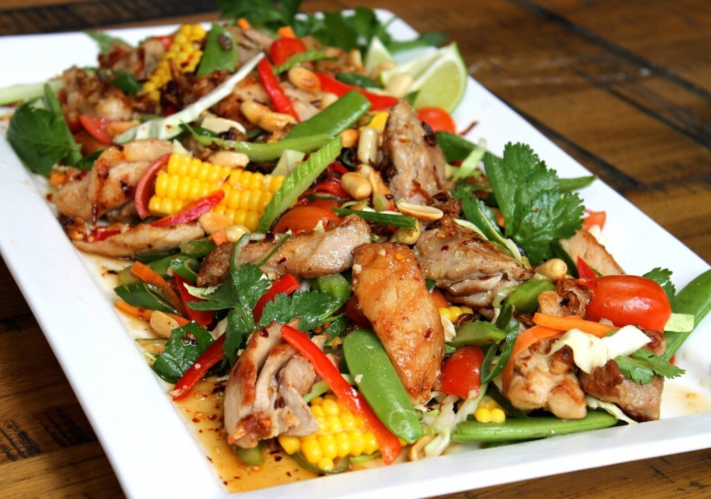 Thai infused grilled chicken salad recipe