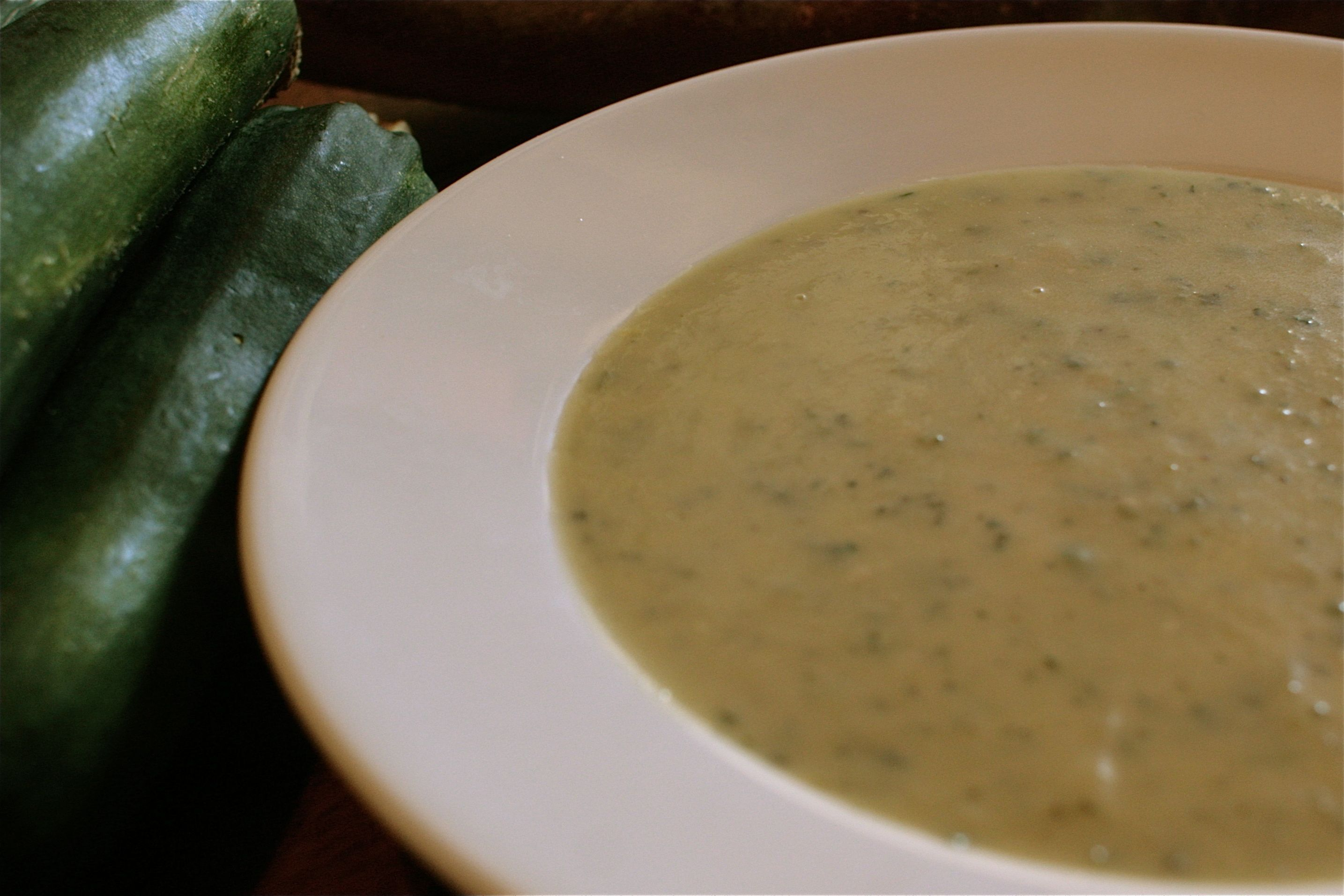 Courgette Soup with Parsley & Parmesan
