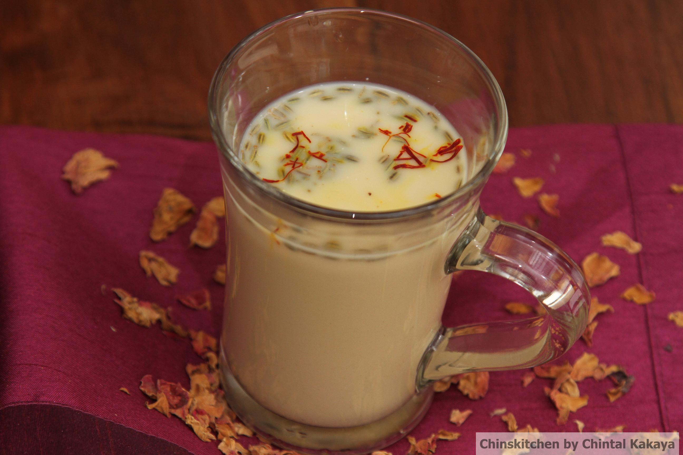 Holi Special: Thandai – rose, milk, almond and spice mixed drink