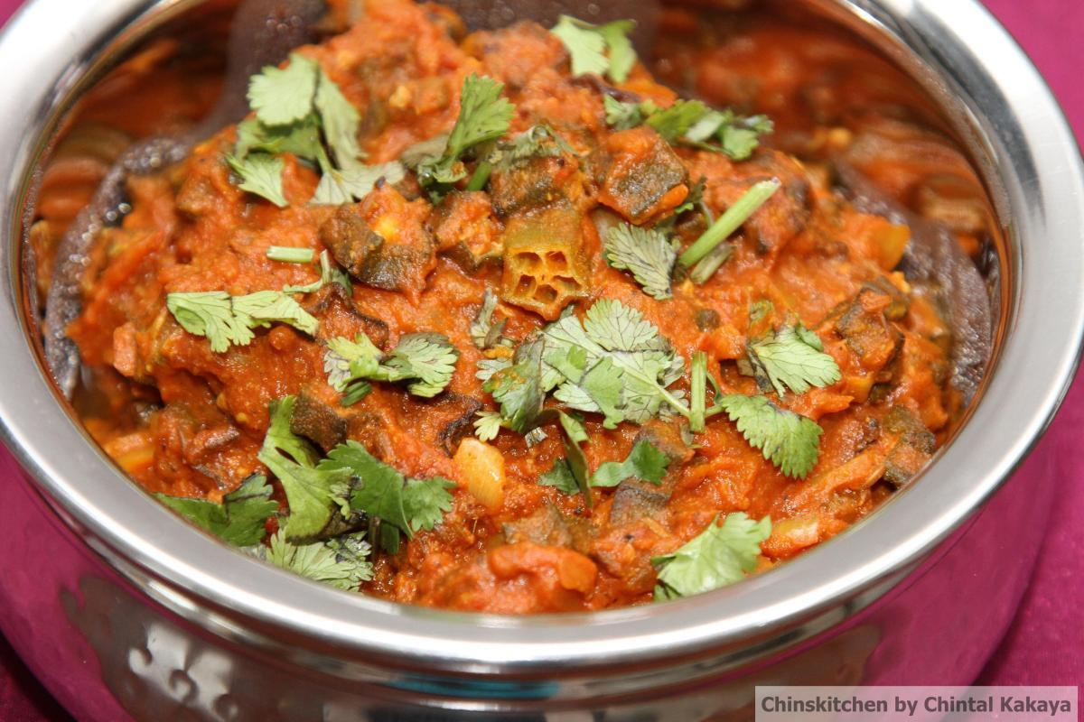 Free from Friday's: Bhindi Masala (Okra cooked in a rich tomato and coconut gravy)
