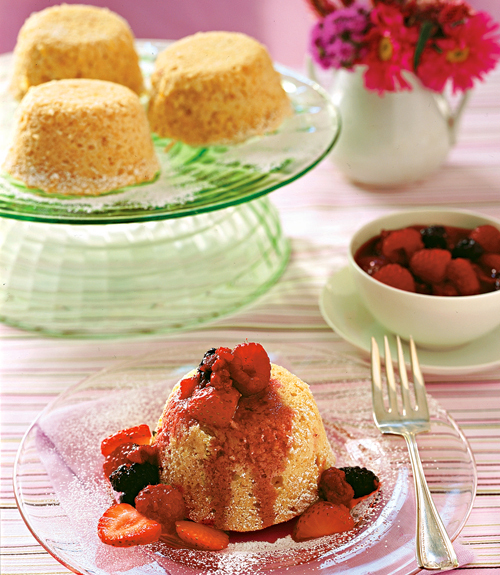 Lemon Cakes with Berry Salsa