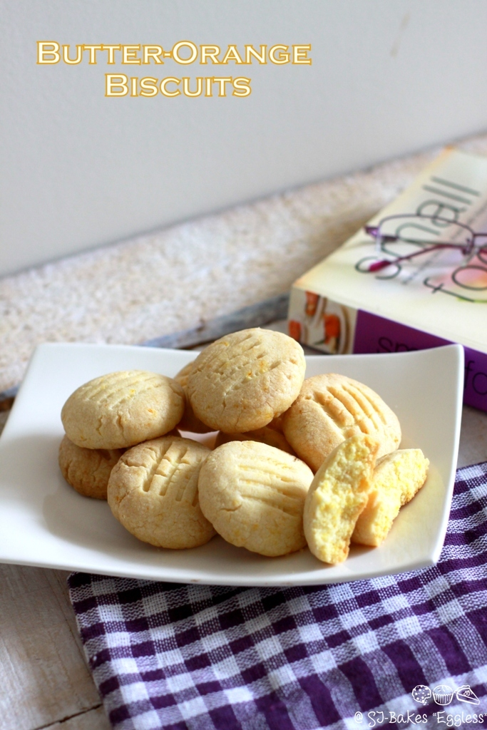 Butter-Orange Biscuits {Eggless}