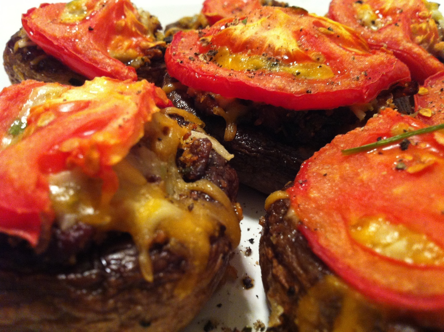 Rosemary Pepper Stuffed Mushrooms