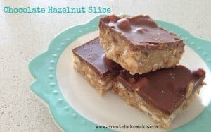 Milk Chocolate and Hazelnut Slice