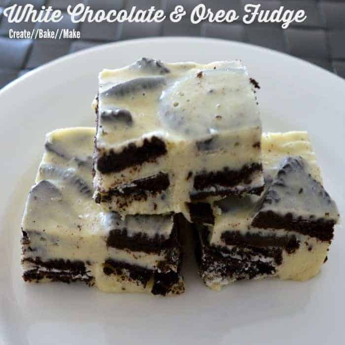 White Chocolate and Oreo Fudge