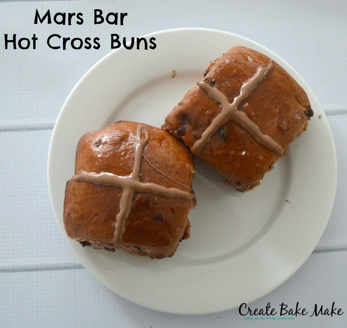 Mars Bar Hot Cross Buns