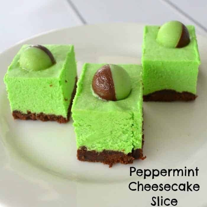 Peppermint Cheesecake Slice