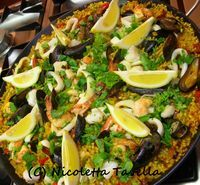 Not exactly Italian: Oliver's paella (with video)