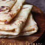 Msemen au fromage façon cheese naan