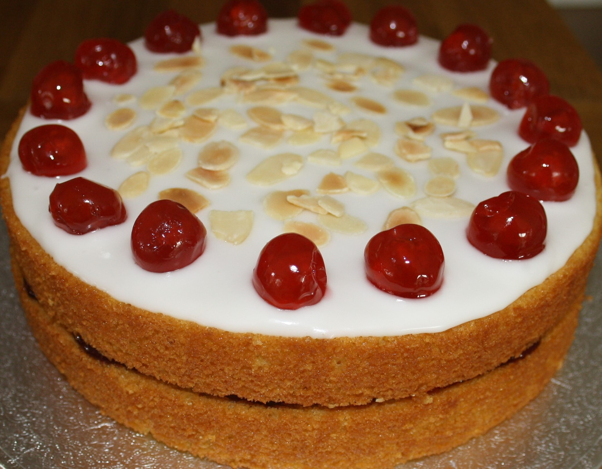 Cherry Bakewell Cake: A proper crowd pleaser!