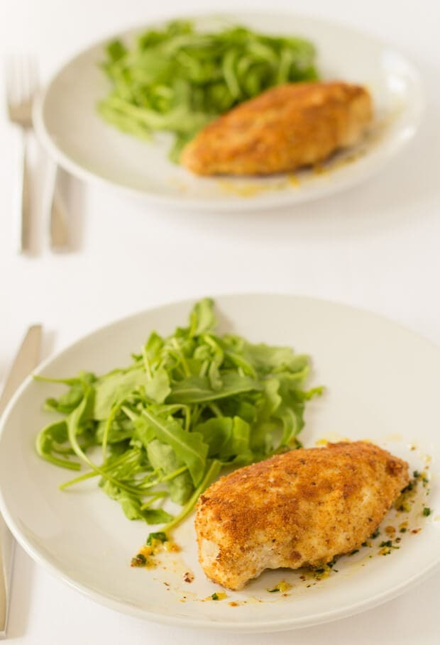 Easy Baked Chicken Kiev