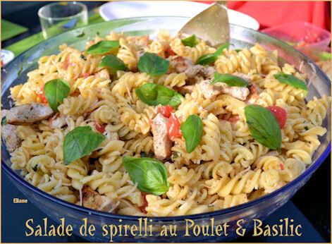 salade de pates au poulet basilic recipe from mytaste fr