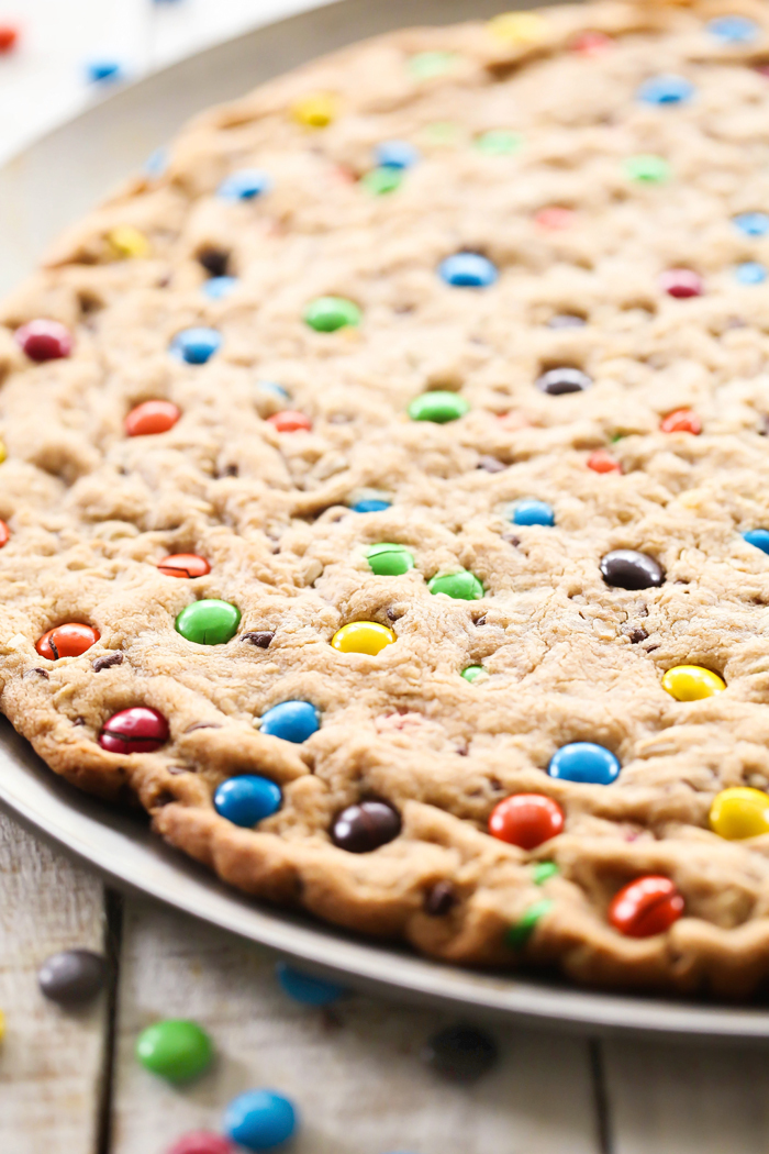 Pizza-Cookie de M&M's